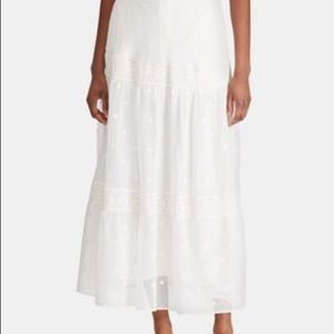 NWT Ralph Lauren Embroidered Peasant Skirt Sz 16W